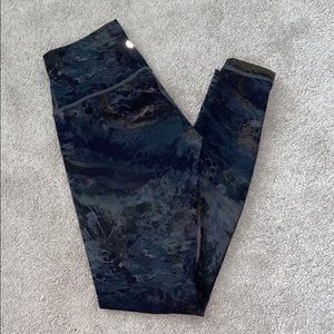 Lululemon Dark Marbled Full Length Leggings